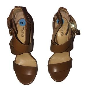 Michael Kors | Brown Leather | Heels | 6.5